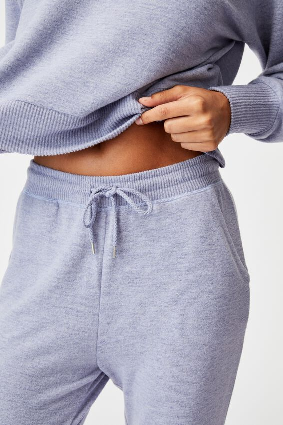 Super Soft Slim Cuff Pant, PERIWINKLE MARLE