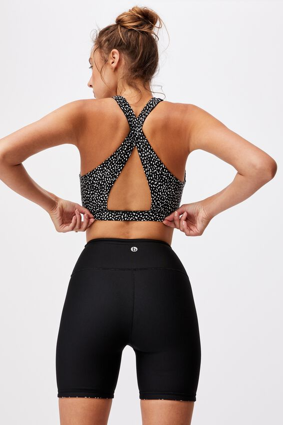 Reversible Bike Short, DOT TO DOT BLACK/BLACK