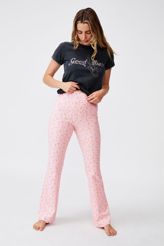 Ringer Sleep T-Shirt, LCN WB BUGS BUNNY GOOD VIBES