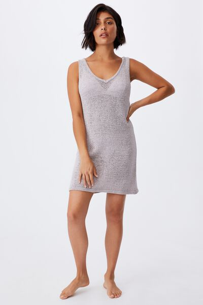 Summer Lounge Slip Dress, QUAIL