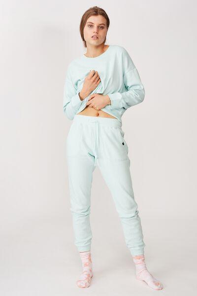 Gym Track Pants, COOLING MINT/RIB