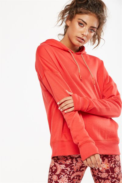 Active Hoodie, POPPY RED