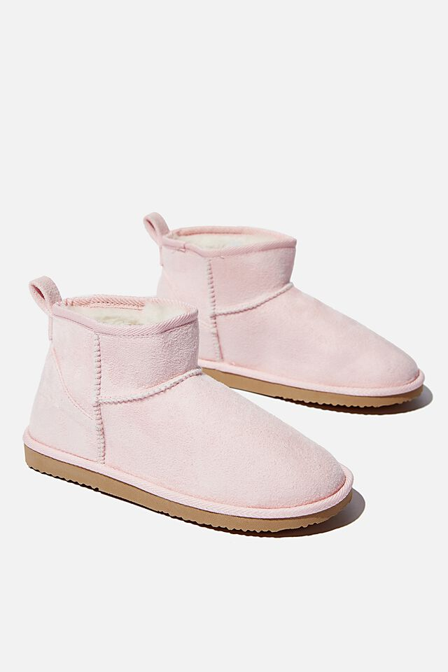 Body Super Cropped Home Boot, BLUSH