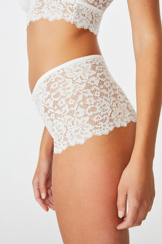 Ivy Lace Shorty Brief, CREAM