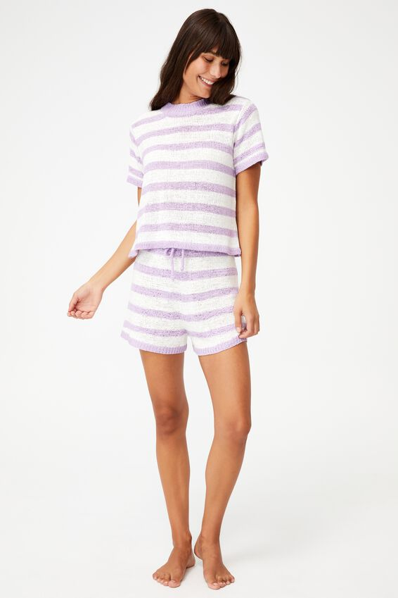 Summer Lounge T-Shirt, ORCHID STRIPE