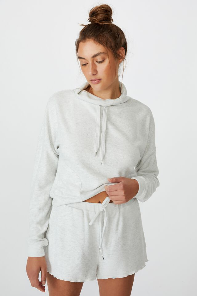 Super Soft Relaxed Short, SOFT GREY MARLE