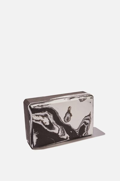 Yoga Block, BLACK WHITE SWIRL
