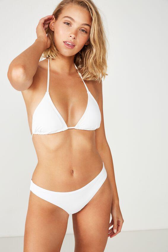 Classic Seamless Full Bikini Bottom, WHITE