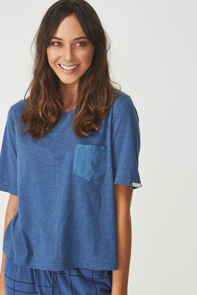 Boxy T-Shirt, SKY BLUE MARLE