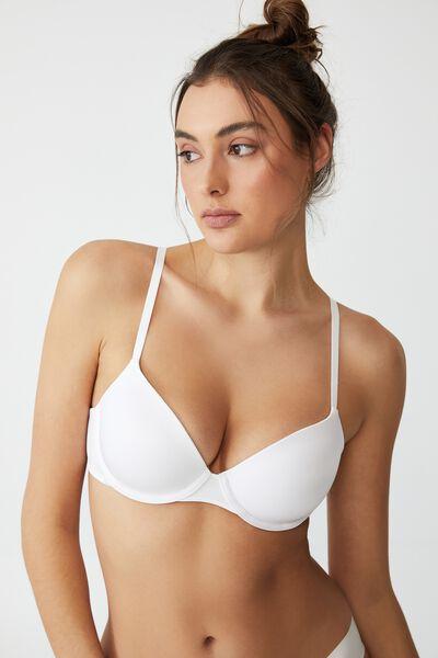 Ultimate Comfort T-Shirt Bra, WHITE