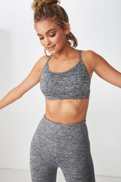 Workout Yoga Crop Bra, SALT & PEPPER
