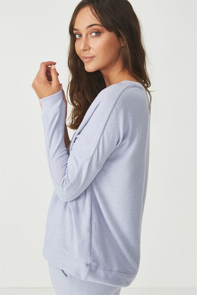 Super Soft  Lounge Top, ELECTRIC LILAC MARLE