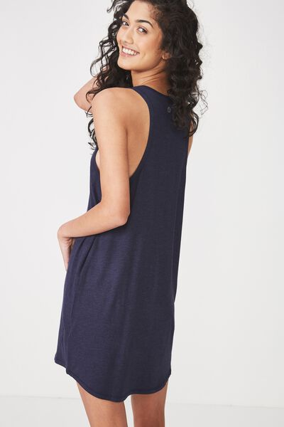 Sleep Recovery Tank Nightie, MIDNIGHT MARLE