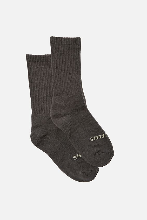 Staycation Sock, WASHED BLACK