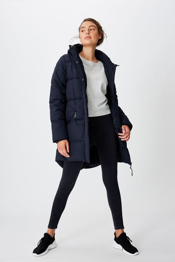 The Mother Mid Length Puffer, NAVY