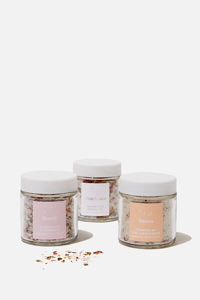 3 Pack Mini Bath Salts, MIXED