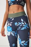 Summer Core 7/8 Tight, WASHED ROMANCE FLORAL