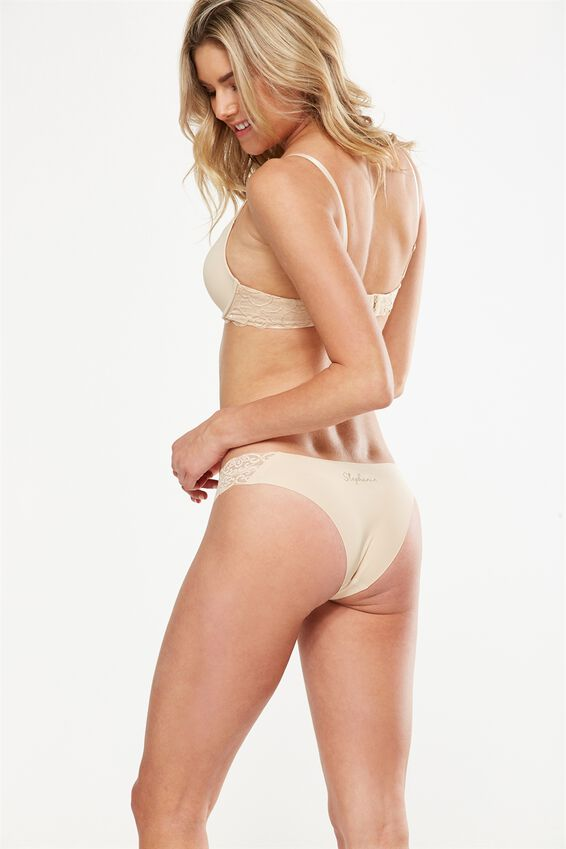 Personalised Party Pants Seamless Brasiliano Brief, FRAPPE