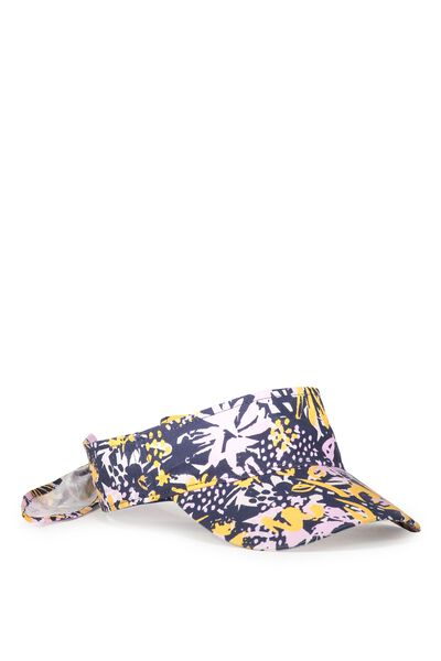Swim Visor, ABSTRACT FLORAL