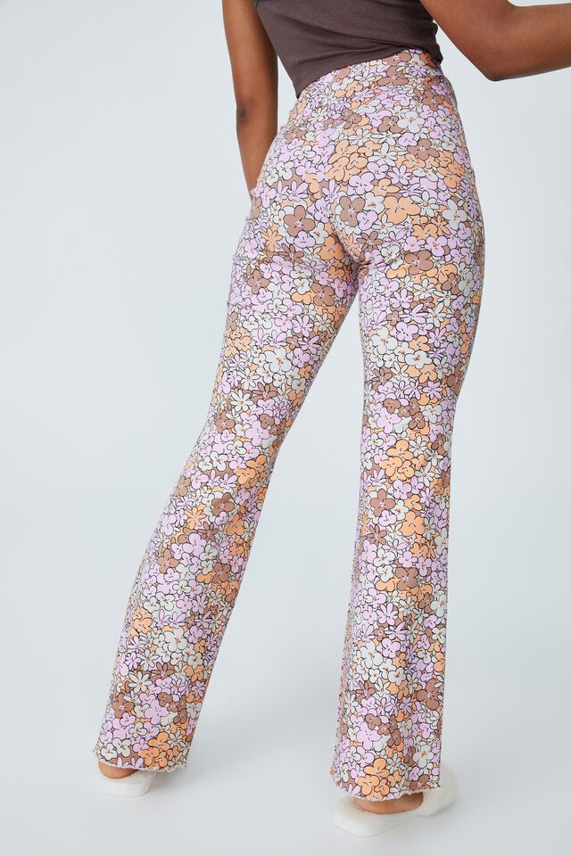 Jersey Bed Pant, VIBING FLORAL BROWN