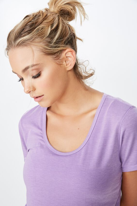 Gym T Shirt, PURPLE DOVE