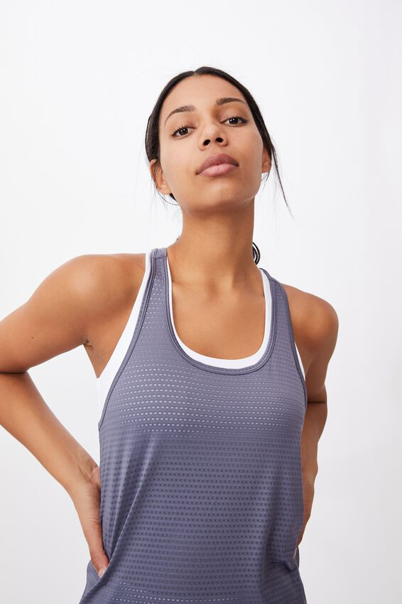 Training Tank Top, STORM BLUE TEXTURE
