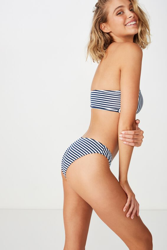 Classic Full Bikini Bottom, NIGHTBLUE STRIPE