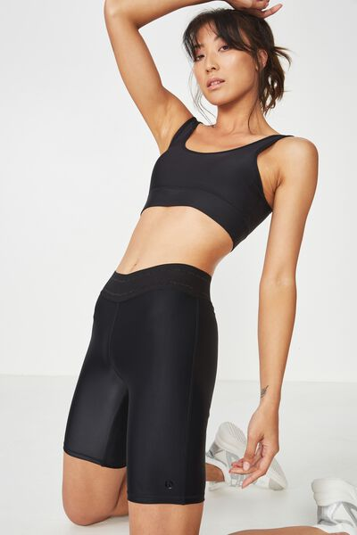 Active Mid Gym Short, SHIMMER BLACK