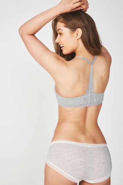 Super Soft Wirefree Lift Bra, GREY MARLE