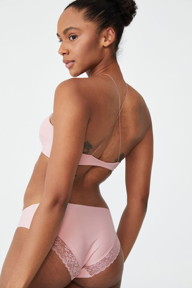 Invisible Floss Padded Bralette, COTTON CANDY