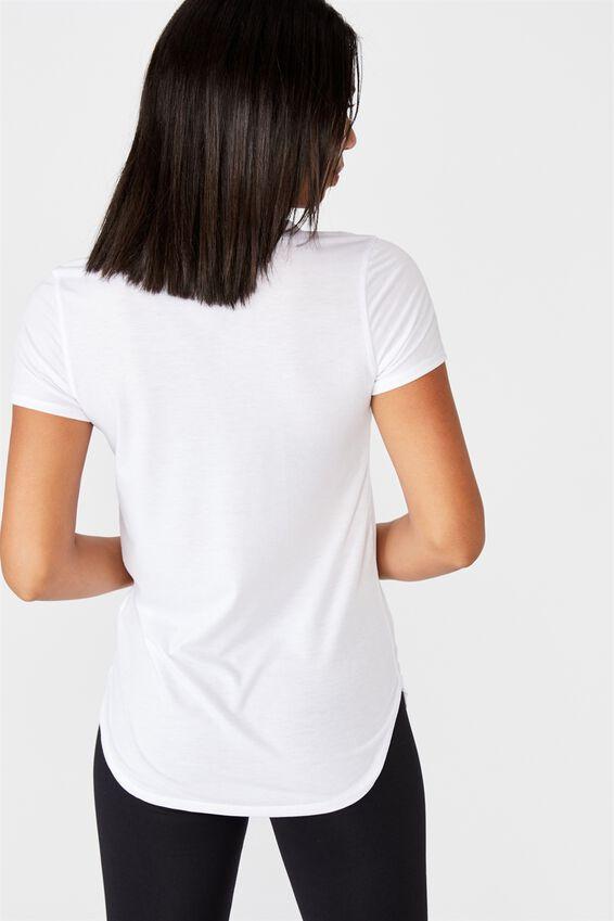 Gym T Shirt, WHITE
