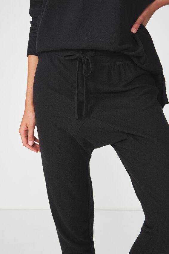 Supersoft Drop Crotch Pant, BLACK