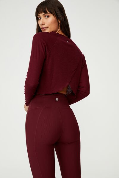 Raglan Long Sleeve Top, MULBERRY