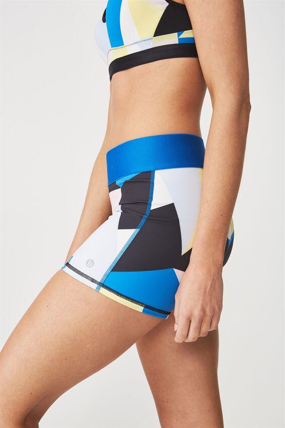 Active Gym Short, COLOURBLOCK BLUE JEWEL