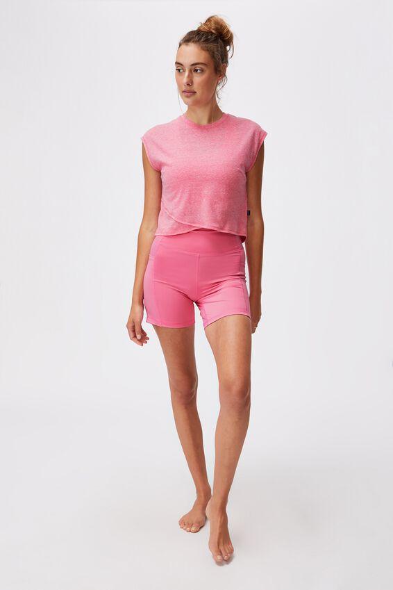 Lifestyle Cross Hem Tshirt, AURORA PINK