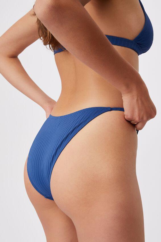 Tanga Cheeky Bikini Bottom, MARINA BLUE RIB 21