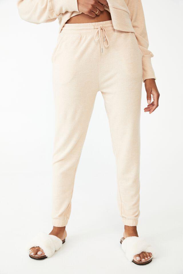 Super Soft Slim Cuff Pant, BONE MARLE