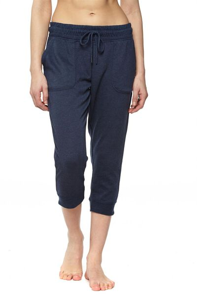 Cropped Gym Track Pants, MIDNIGHT MARLE