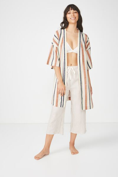 Woven Kimono, MULTI STRIPE