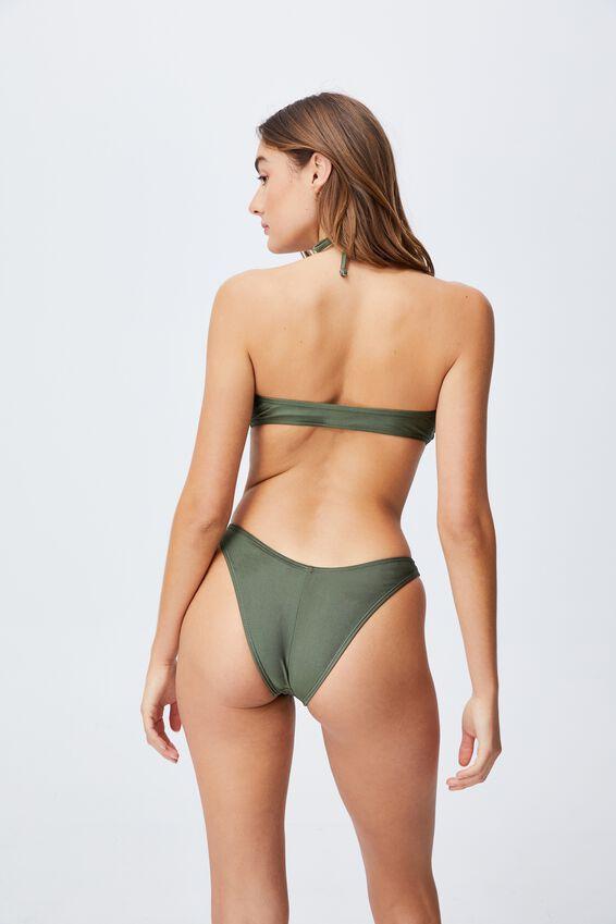 Floss Bikini Top, WARM KHAKI SHIMMER