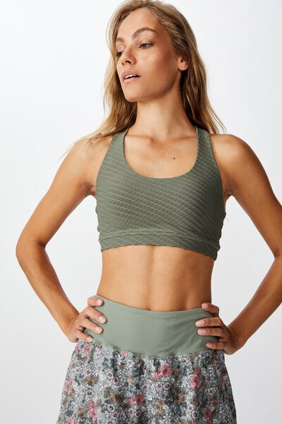 Strappy Sports Crop, STEELY SHADOW TEXTURE