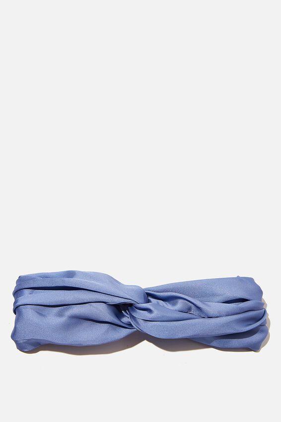 Satin Knot Headband, PERIWINKLE