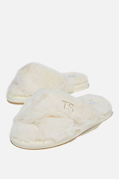 Personalised Duo Crossover Slipper, BUTTERMILK