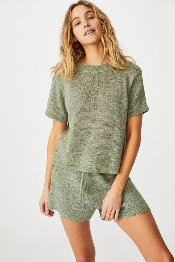 Summer Lounge T-Shirt, KHAKI