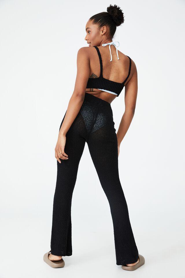 Summer Lounge Beach Pant, BLACK