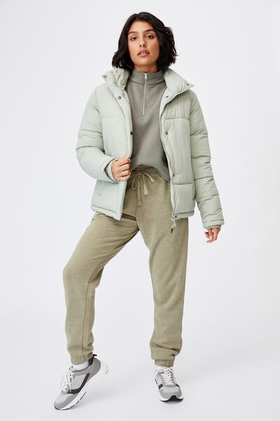 The Recycled Mother Puffer Jacket, GREEN HAZE