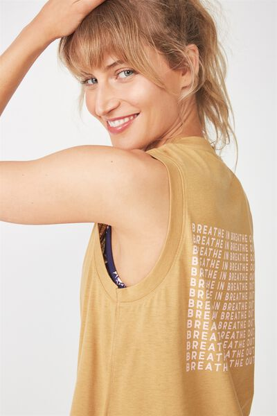 Lunge Tank Top, GOLDEN CHAI / HER