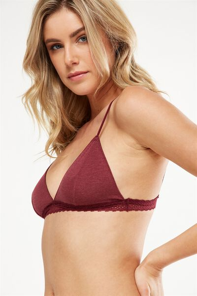 The Body Supersoft Bralette, ROSEWOOD MARLE