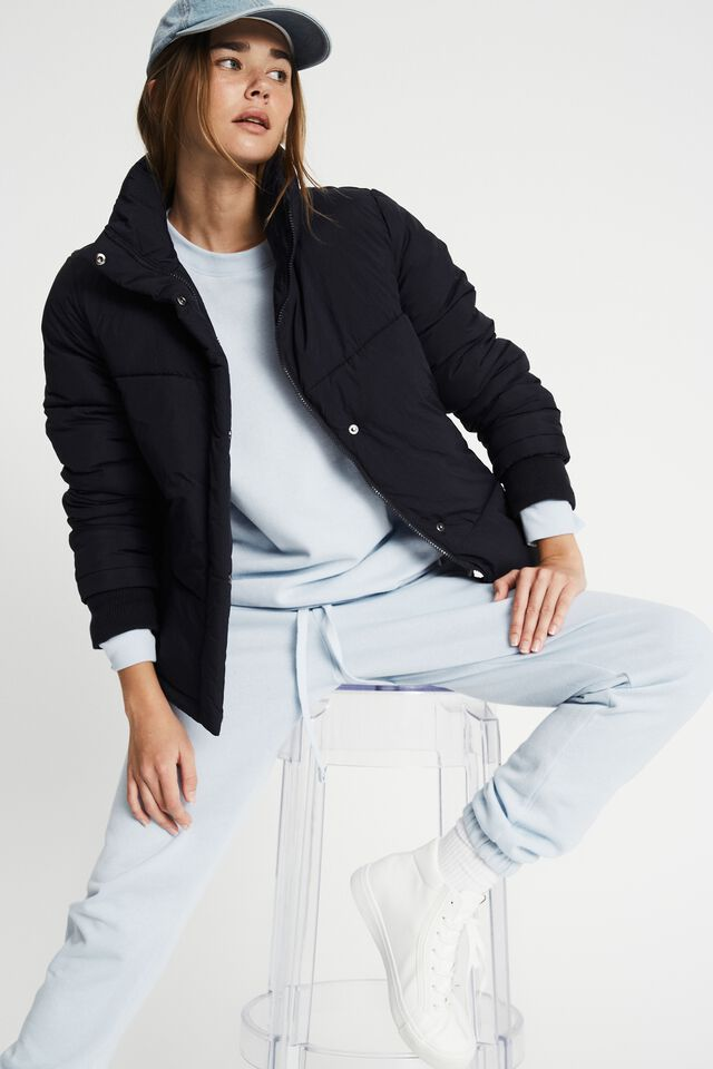 The Recycled Mother Puffer Jacket, NAVY