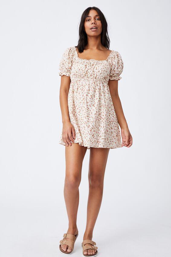 Puff Sleeve Beach Dress, MOVEMENT LEOPARD